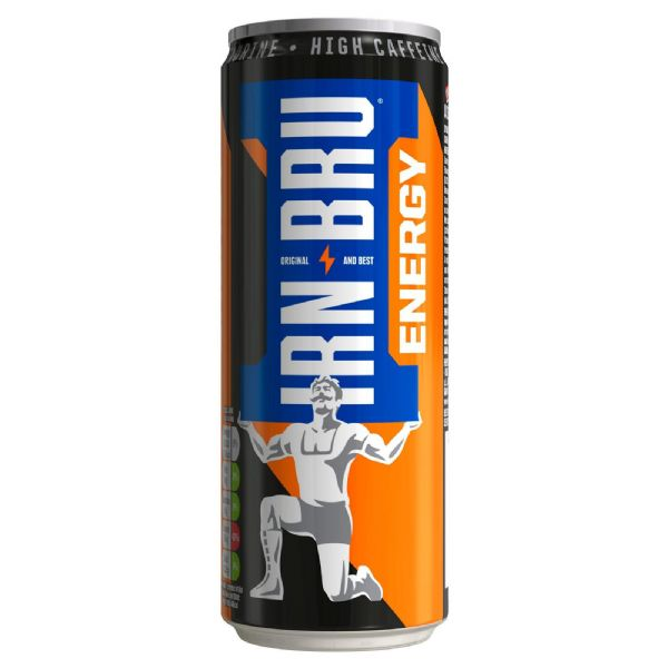 Barr Irn Bru Energy 330ml Can (UK)